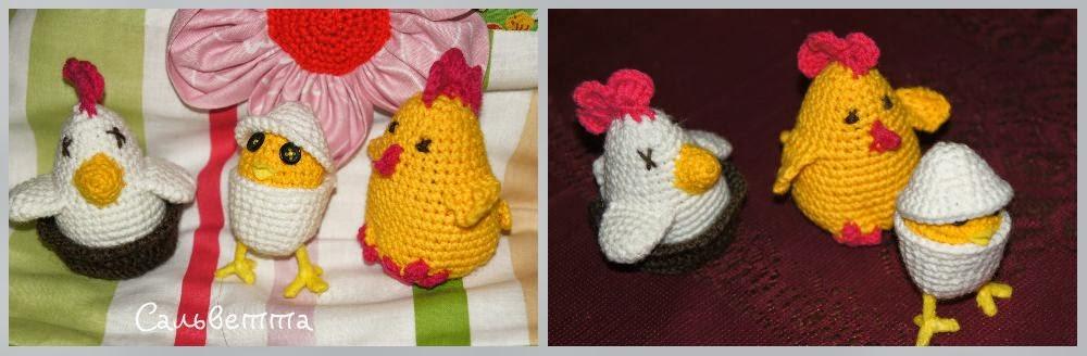 цыпленок и курочки к Пасхе