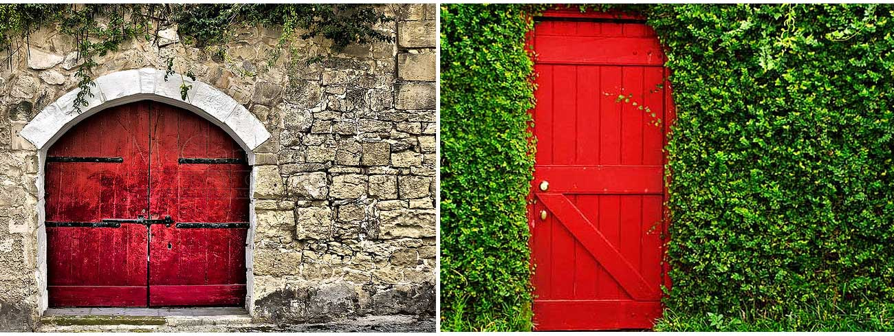 Red Doors Stone : Stone art roses are red the use of in