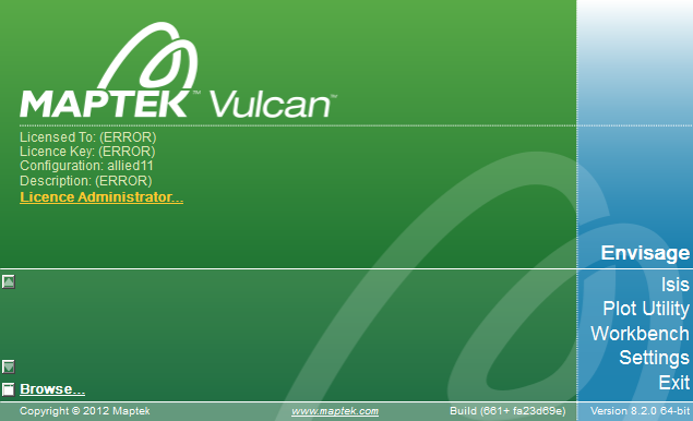 Maptek Vulcan 8.2 Splash Screen