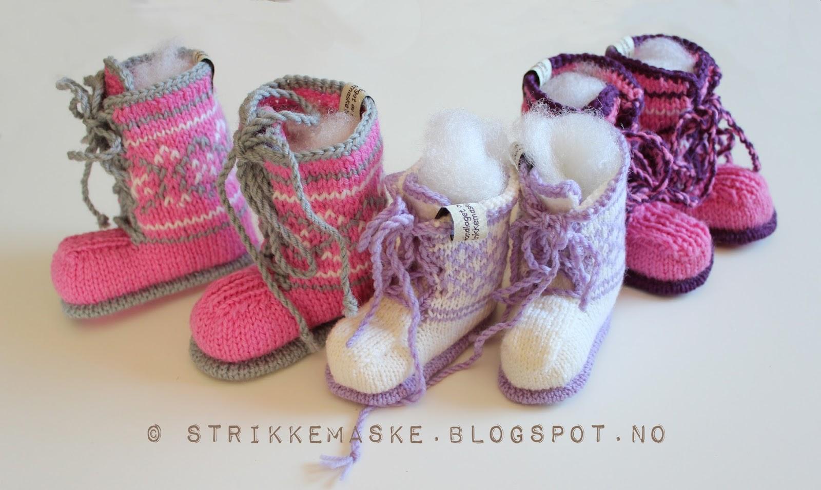 BabyBooties StikkeOppskrift