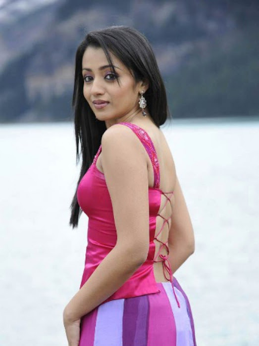 trisha in guard movie pink dress shoot song ,