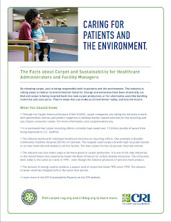 CRI's Healthcare, Facility Manager Carpet Sustainability Facts