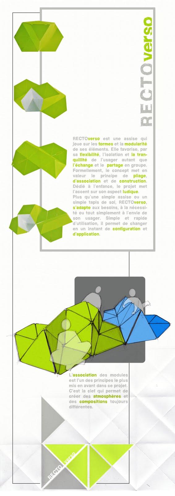 Design et architecture interieure assise modulable pour enfants - Architecture pour enfants ...