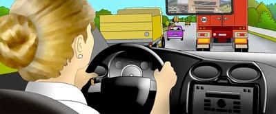 Carmen Hidalgo conduciendo a velocidad suicida.