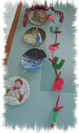 Patry creazioni decorazione natalizia per la porta con cd usati - Decorazione natalizia per porta ...