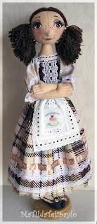 Авторская кукла из текстиля