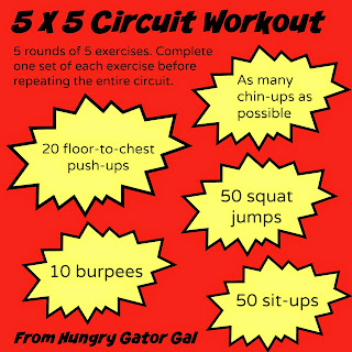 5x5 Circuit Workout from Hungry Gator Gal