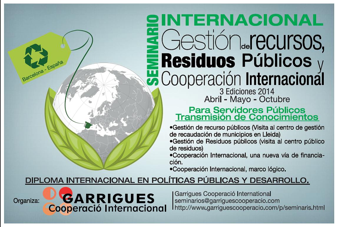 SEMINARIOS INTERNACIONALES 2014....