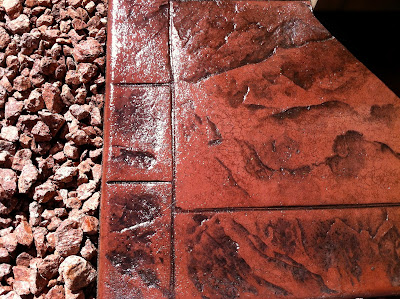 Stamped Concrete Detail Photo Terracotta