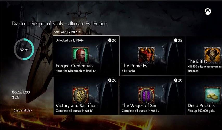 Actualización de Xbo One de Octubre