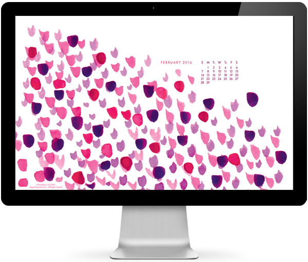 free desktop wallpaper, free february 2016 desktop wallpaper, painted wallpaper, modern desktop wallpaper, paint marks wallpaper