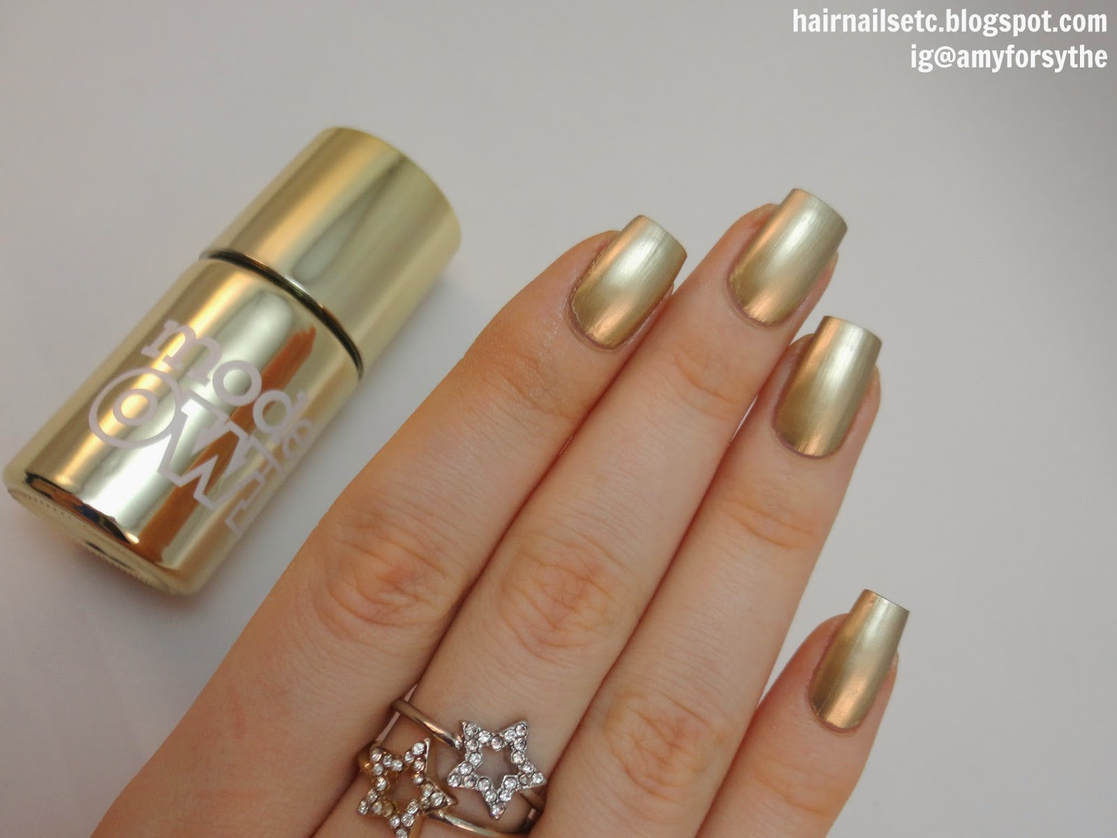 Models Own Colour Chrome Gold Nail Polish swatch and review