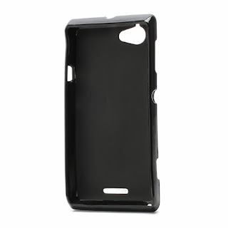 TPU Jelly Case Cover for Sony Xperia L S36h C2105 C2104 - Black