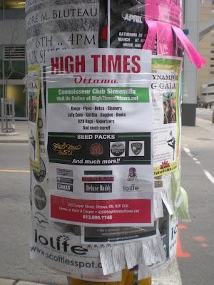 affiche, produits du cannabis, centre-ville d'Ottawa