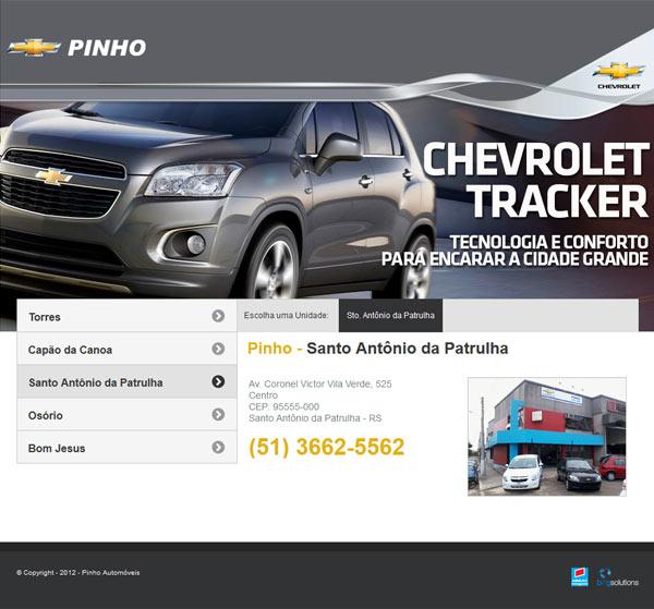 Portal da Pinho Automóveis desenvolvido pela Big Solutions e que utiliza o sistema Web para as Concessionárias