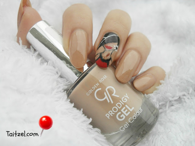 Golden Rose Prodigy Gel Duo nail art