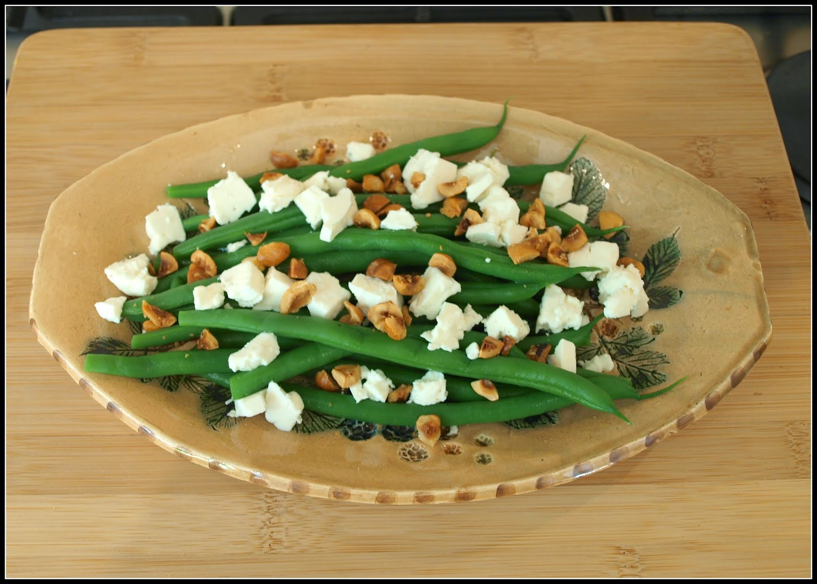 Green Bean salad, with Feta and Hazelnuts.
