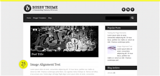 Busby Blogger Template is a wordpress to blogger converted premium blogge rtemplate