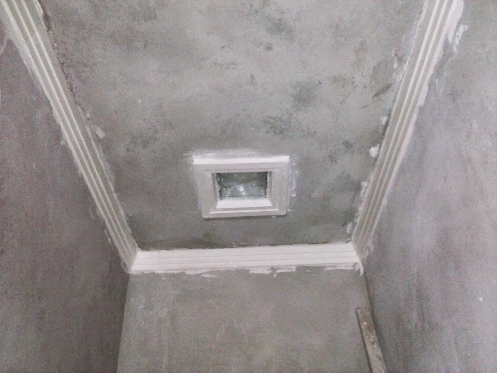 HIGH AND DRY: Banheiro e moldura de gesso do corredor #5F5851 1600x1200 Armario De Banheiro De Gesso