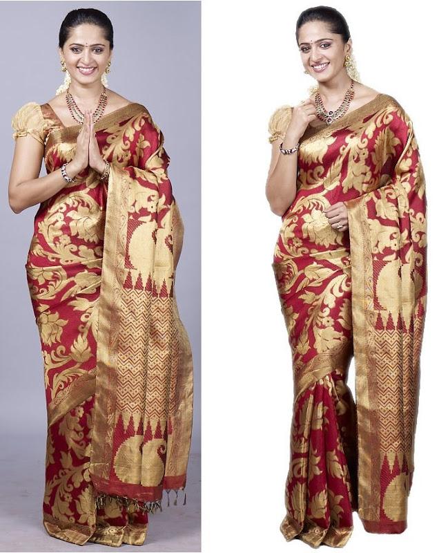 Anushka at Chennai Silks Photoshoot unseen pics