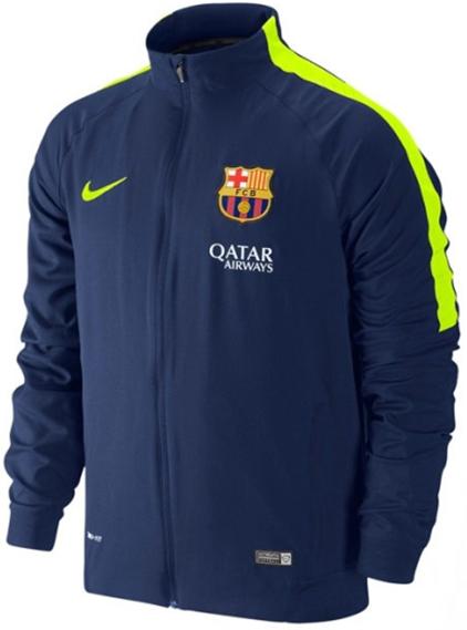 Nike FC Barcelona Squad Sideline Woven Warm Up - Loyal Blue (Volt)