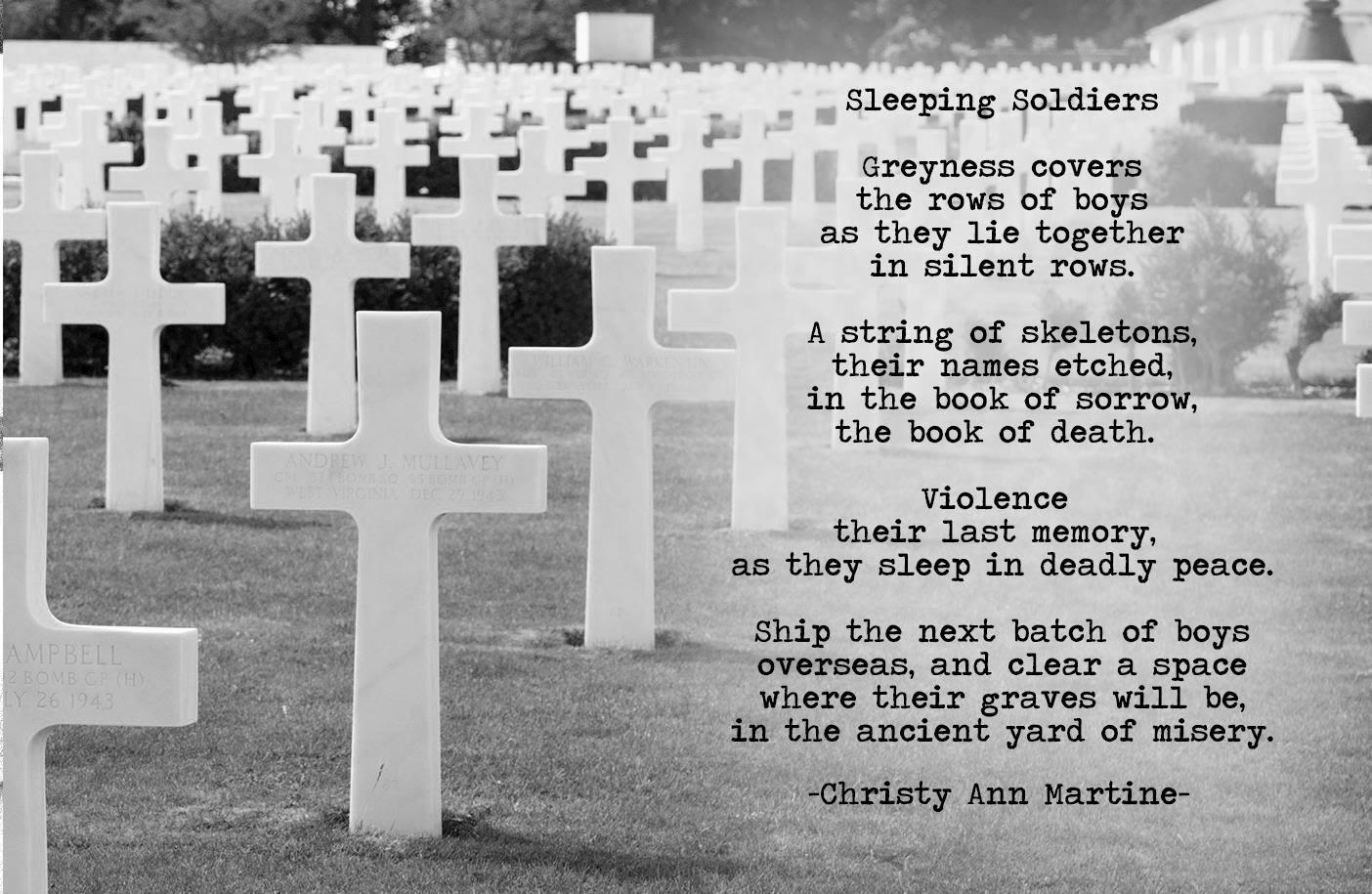 Christy Ann Martine: Sleeping Soldiers