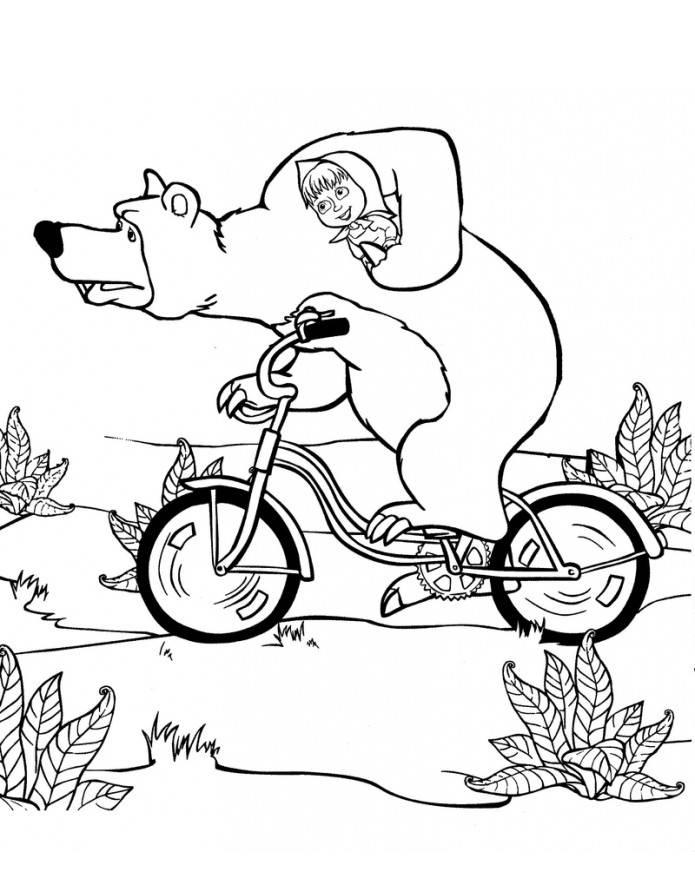 Masha e orso disegni da colorare for Disegni da colorare masha e orso