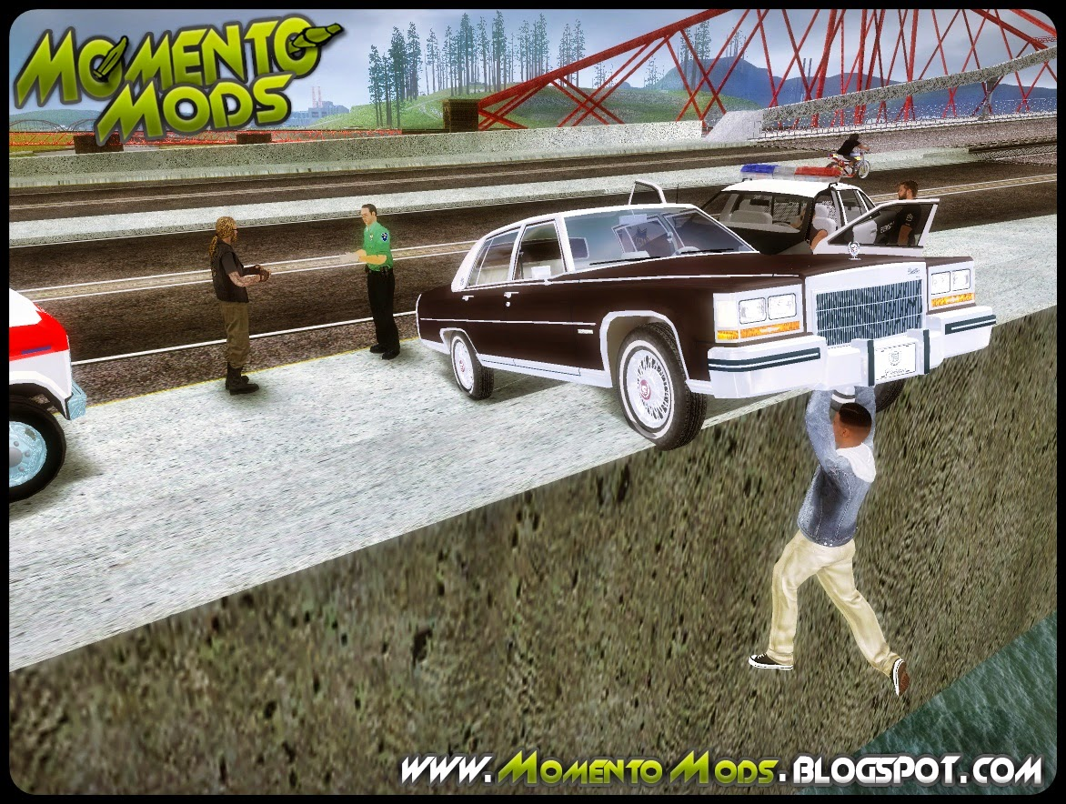 GTA SA - Mod Acidente Grave Na Ponte De Garver Bridge