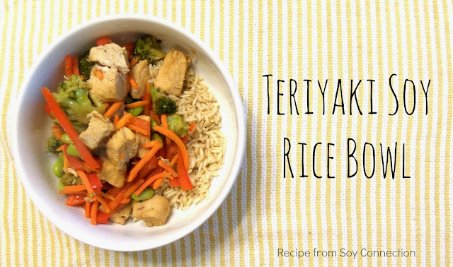 Teriyaki Soy Rice Bowl Recipe from Soy Connection #ad