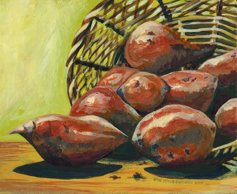 a sweet potato painting