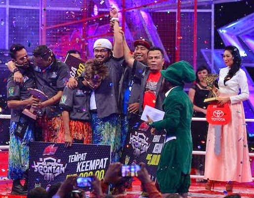 Johan Juara Super Spontan 2014