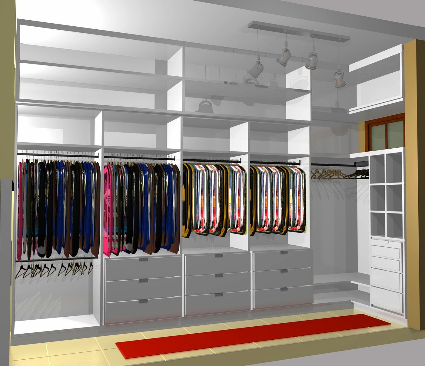 Artes e planejados - Small closet space minimalist ...