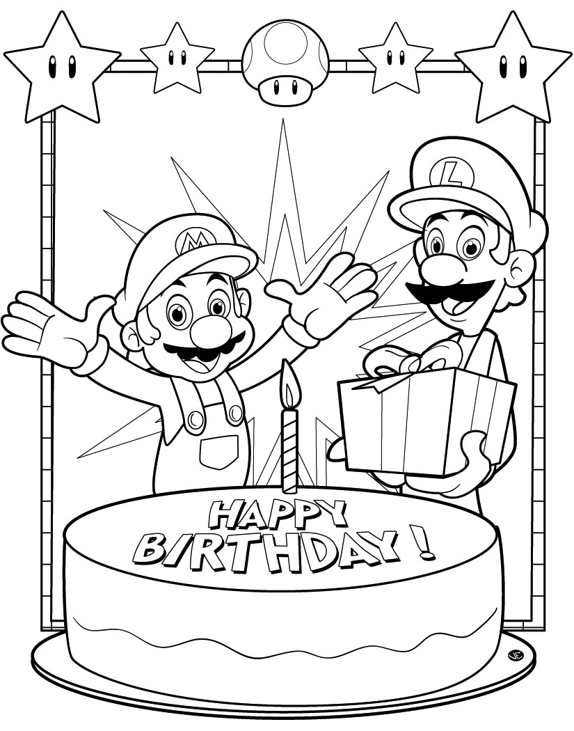 super mario bros coloring pages - photo#13