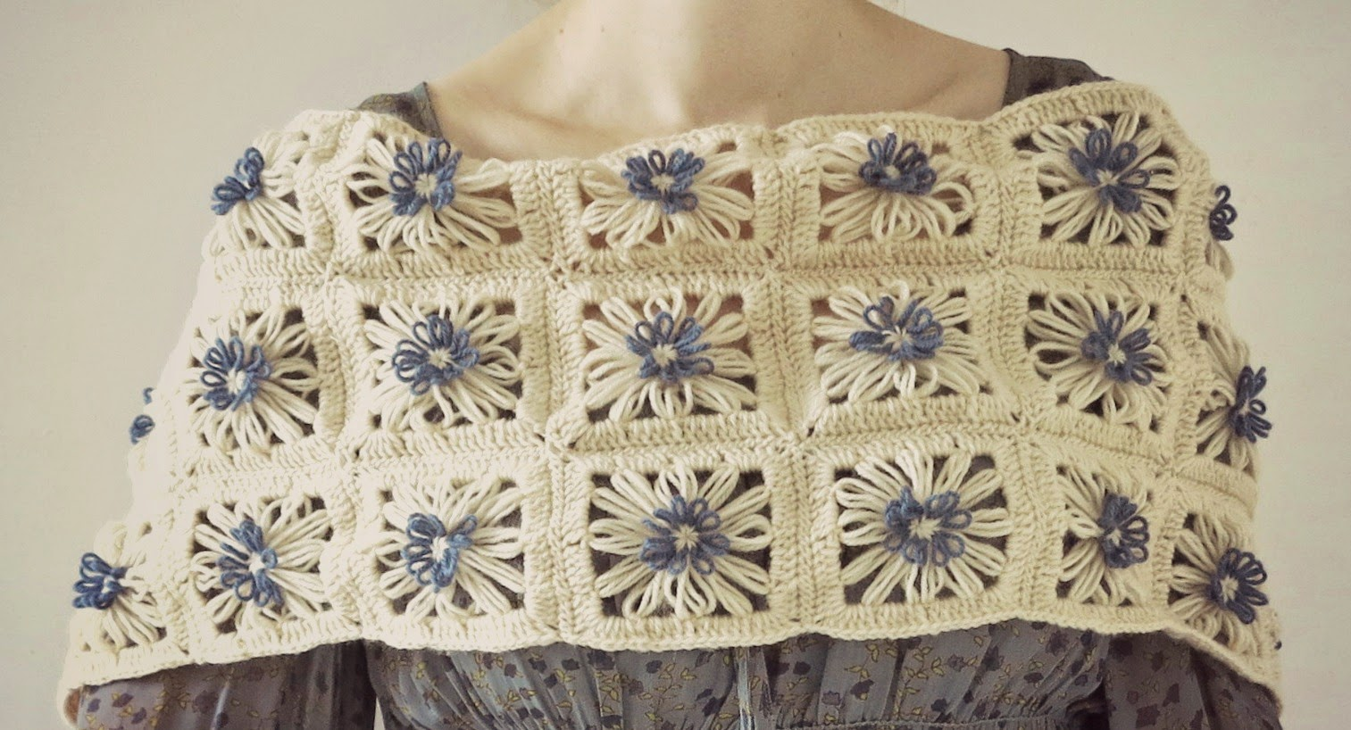 ByHaafner * crochet : Daisies in the Field Scarf *with pattern*