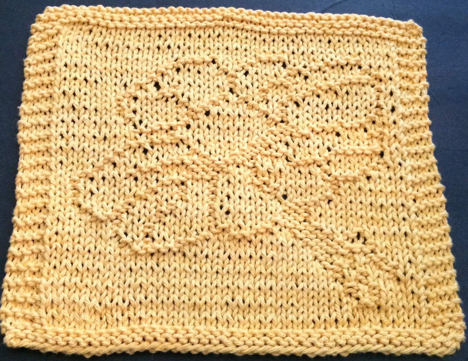DigKnitty Designs: Daffodil Knit Dishcloth Pattern