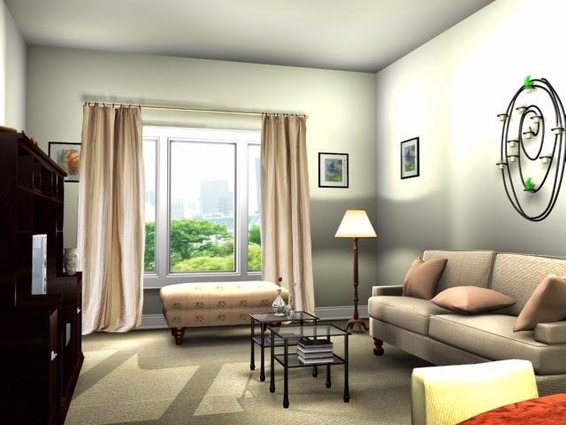 Warna dan cat ruang tamu 8