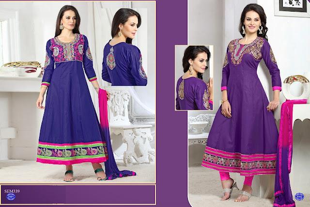 Buy Latest Semiloan Embroidery Anarkali suit