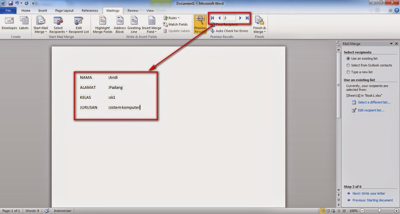 Cara Membuat Mail Merge Dengan Memanggil Data Dari Microsoft Office Excel Dan Access