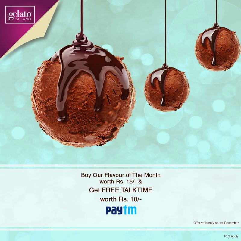 Gelato Italiano Brownie Paytm voucher of rs 10
