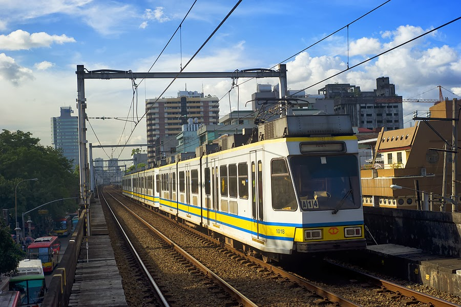 LRT Metro Train in Manila