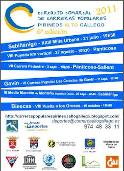 Carreras Comarca Alto Gallego 2011