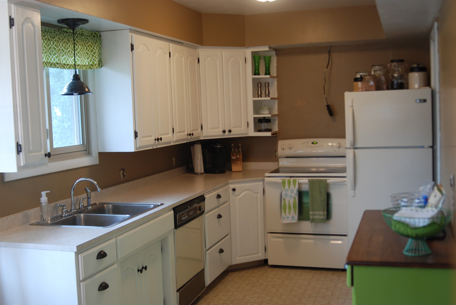 Kitchen Cabinets Not Only Have Doors But Bright Crisp White Doors