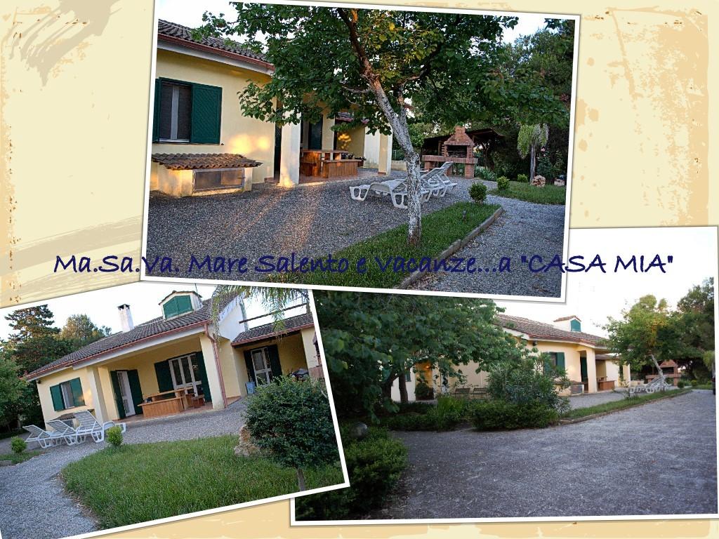 """vacanze a """"Casa Mia"""" giardino esterno, patio e barbecue"""