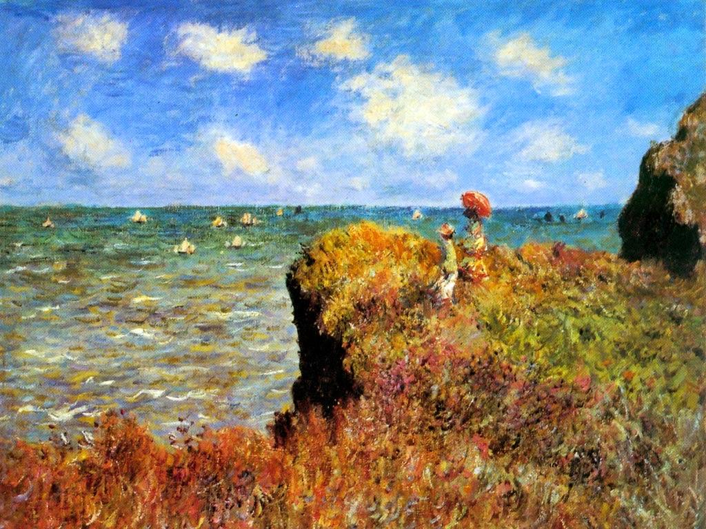 Promenade sur la falaise, Pourville (1882)