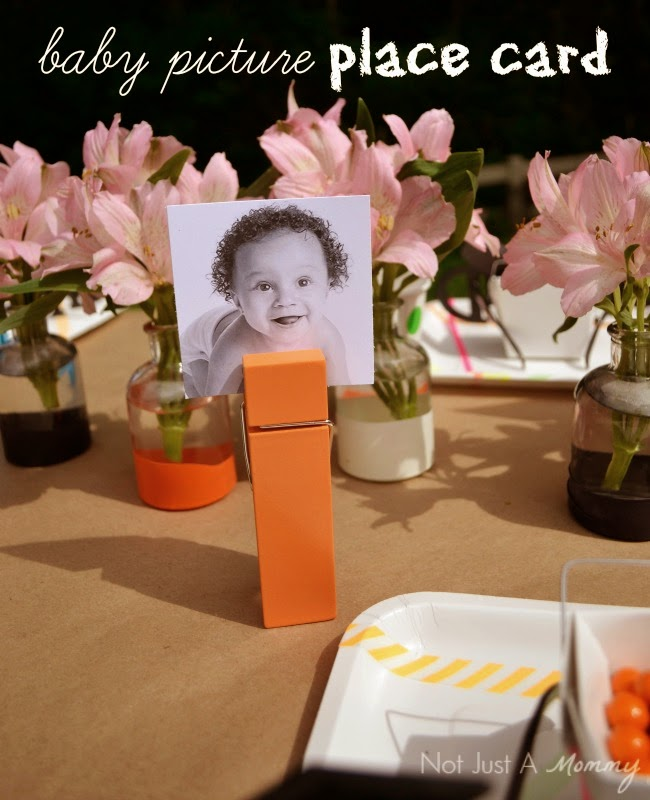 Headed For A Bright Future neon graduation party picture place cards