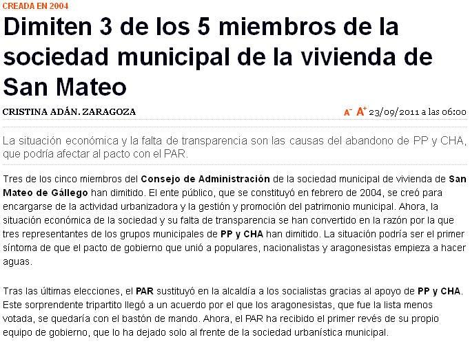 El blog de san mateo de g llego heraldo de aragon 23 de - El tiempo en san mateo de gallego ...