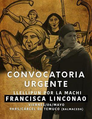 TEMUCO: CONVOCATORIA URGENTE LLELLIPUN POR LA MACHI FRANCISCA LINCONAO