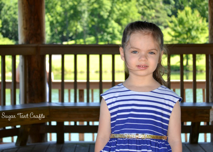 Little girl's dress pattern - the Caroline Party Dress designed by Mouse House Creations
