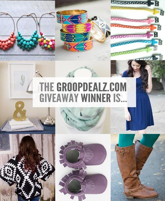 The Groopdealz Giveaway Winner!