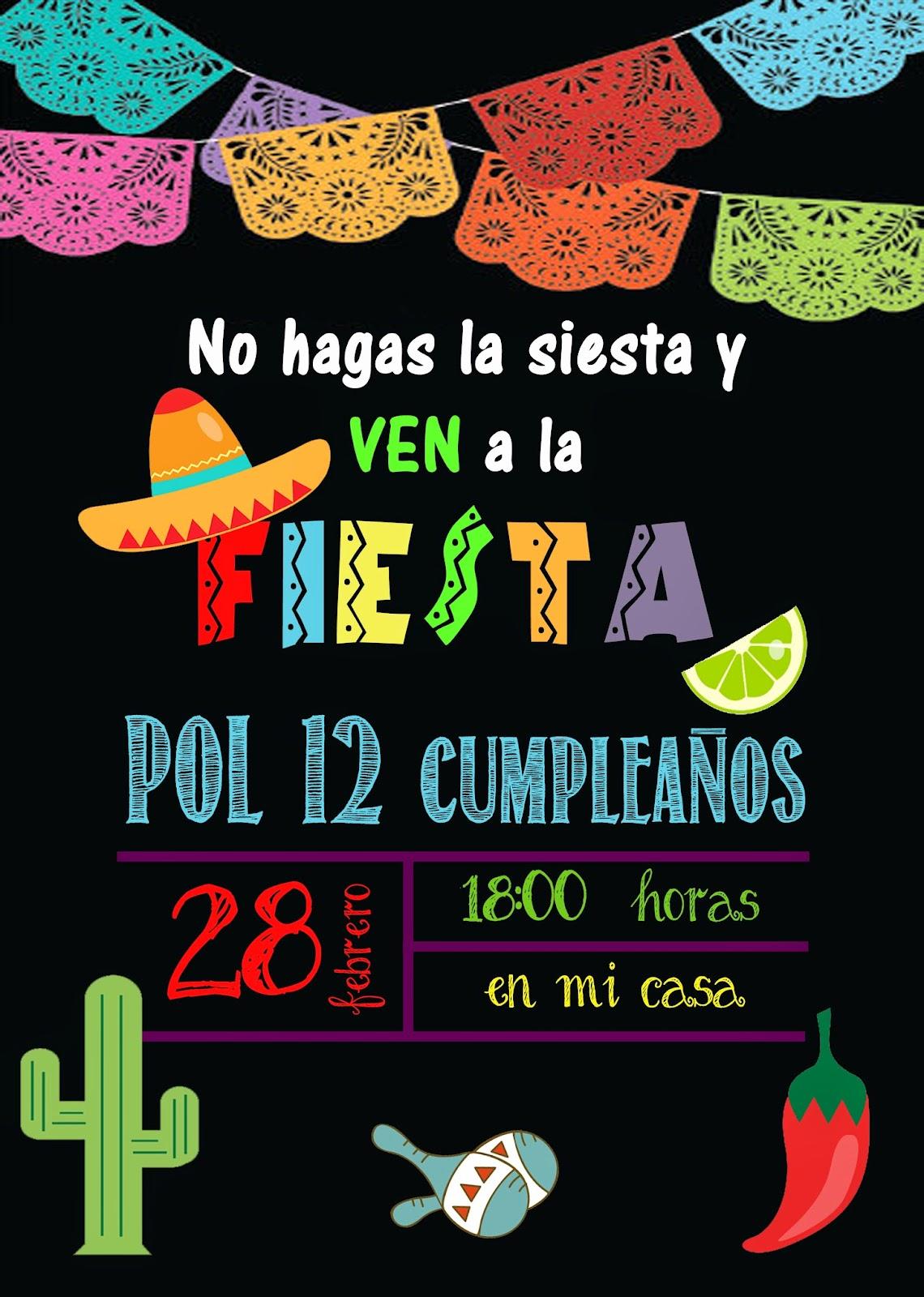 Mardefiesta: Invitación fiesta mexicana y preparativos